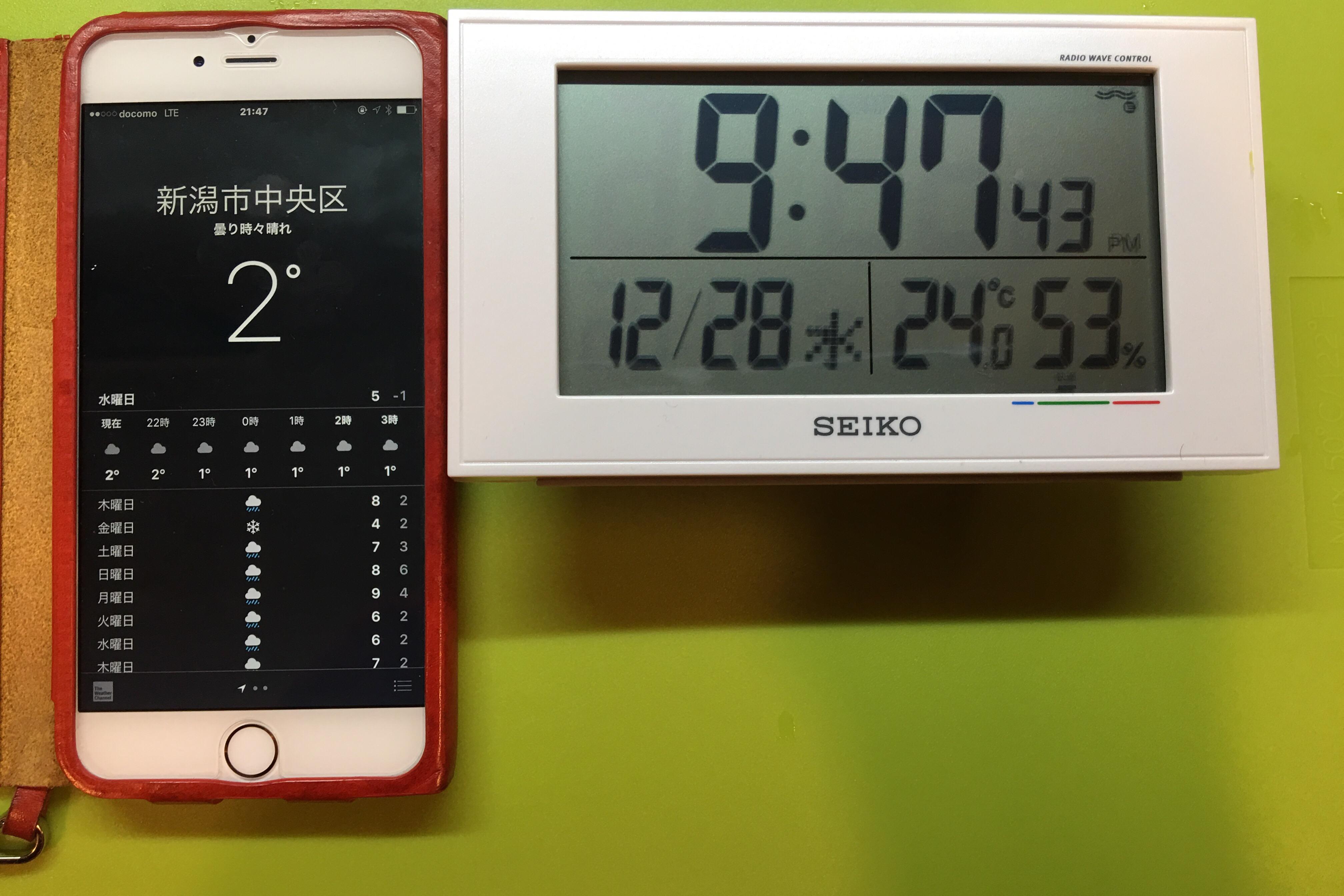 運転直前の温度