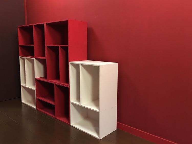 カラーボックス赤白