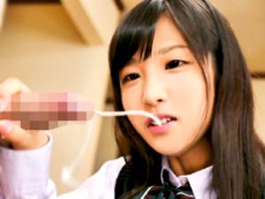 栄川乃亜 「射精するところ見せてよ!」JKの姪っ子に焦らし手コキされた…