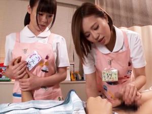 ショタコン巨乳ナースたちが入院中の臭チンポをフェラでお掃除して溜まったザーメンはSEXで搾り出してくれます!