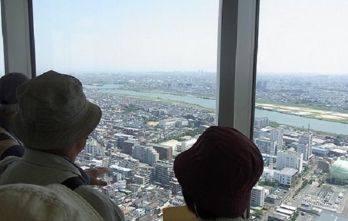 ①展望台江戸川が見え117kb