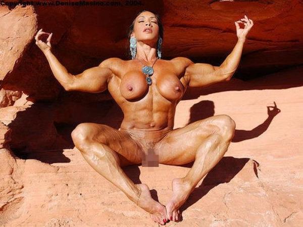 女性ボディビルダーのヌード画像-15