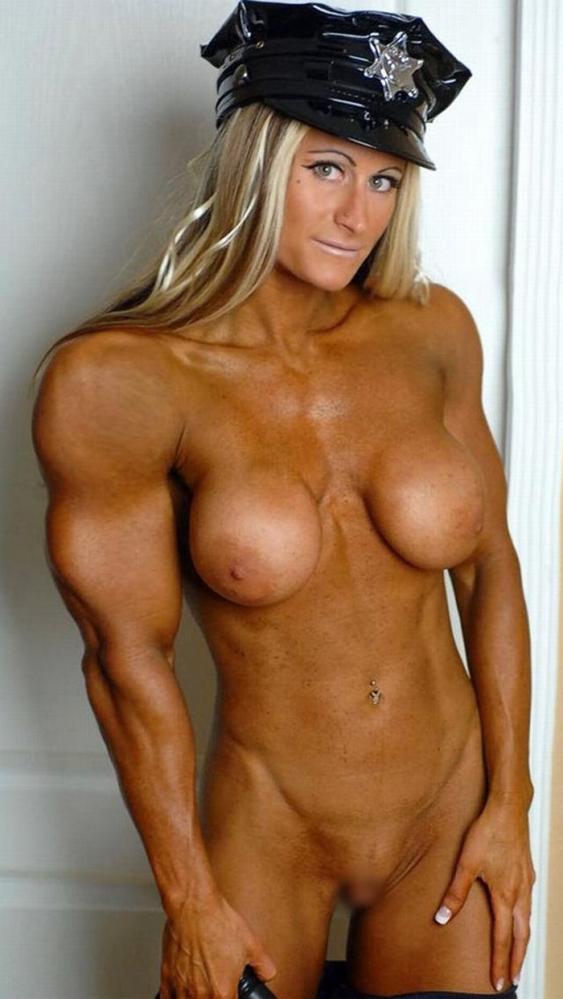 女性ボディビルダーのヌード画像-49