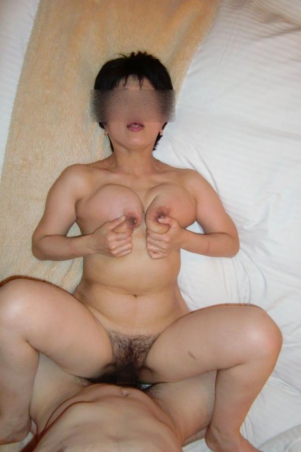 熟女のハメ撮りセックス画像-1
