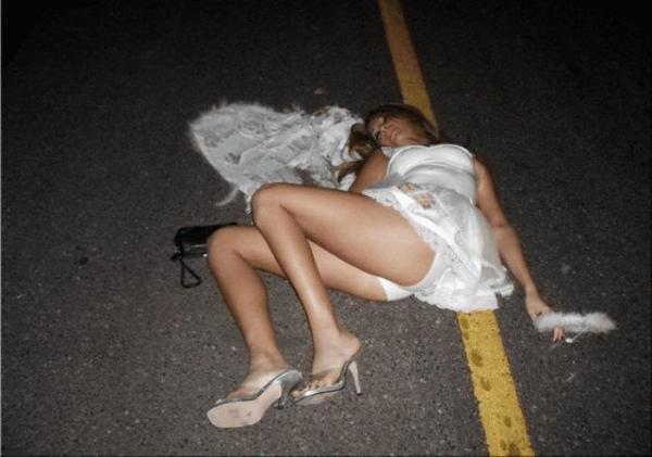 ウエディングドレスのパンチラ画像-39