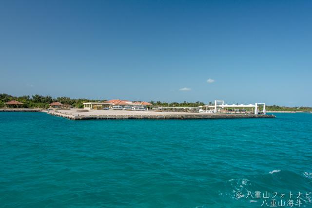 満潮の竹富島港