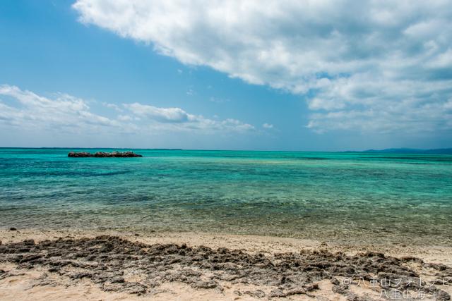 3月のカイジ浜(星砂の浜)の風景