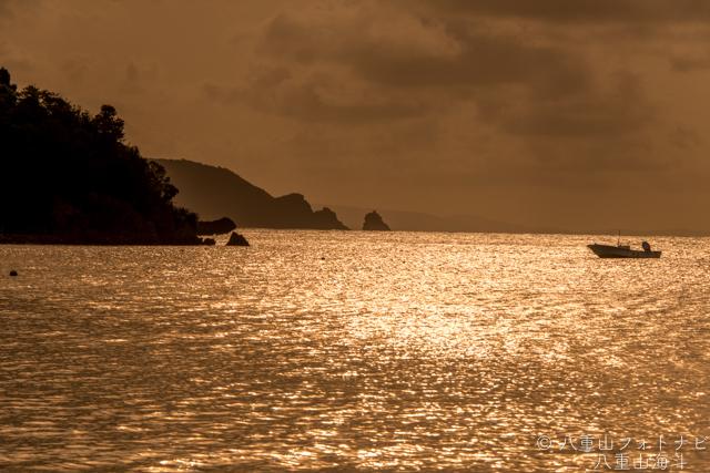 石垣島 川平底地ビーチのサンセット風景