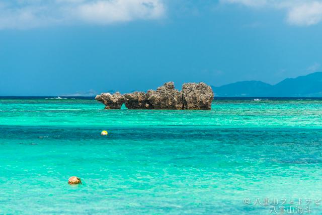 石垣島 川平湾外洋の手前の風景