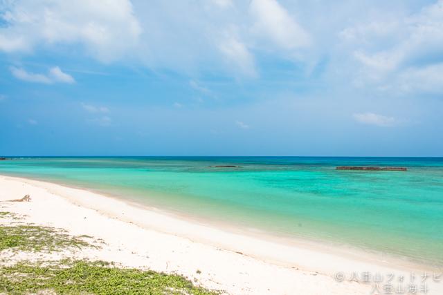 3月末の波照間島 ニシ浜ビーチの風景