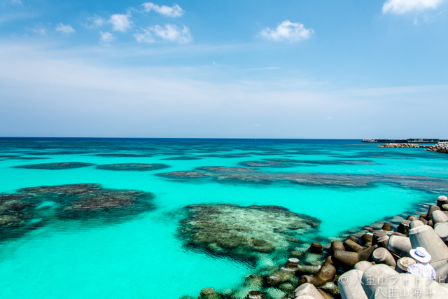 ニシ浜ビーチ沖合の波照間ブルー