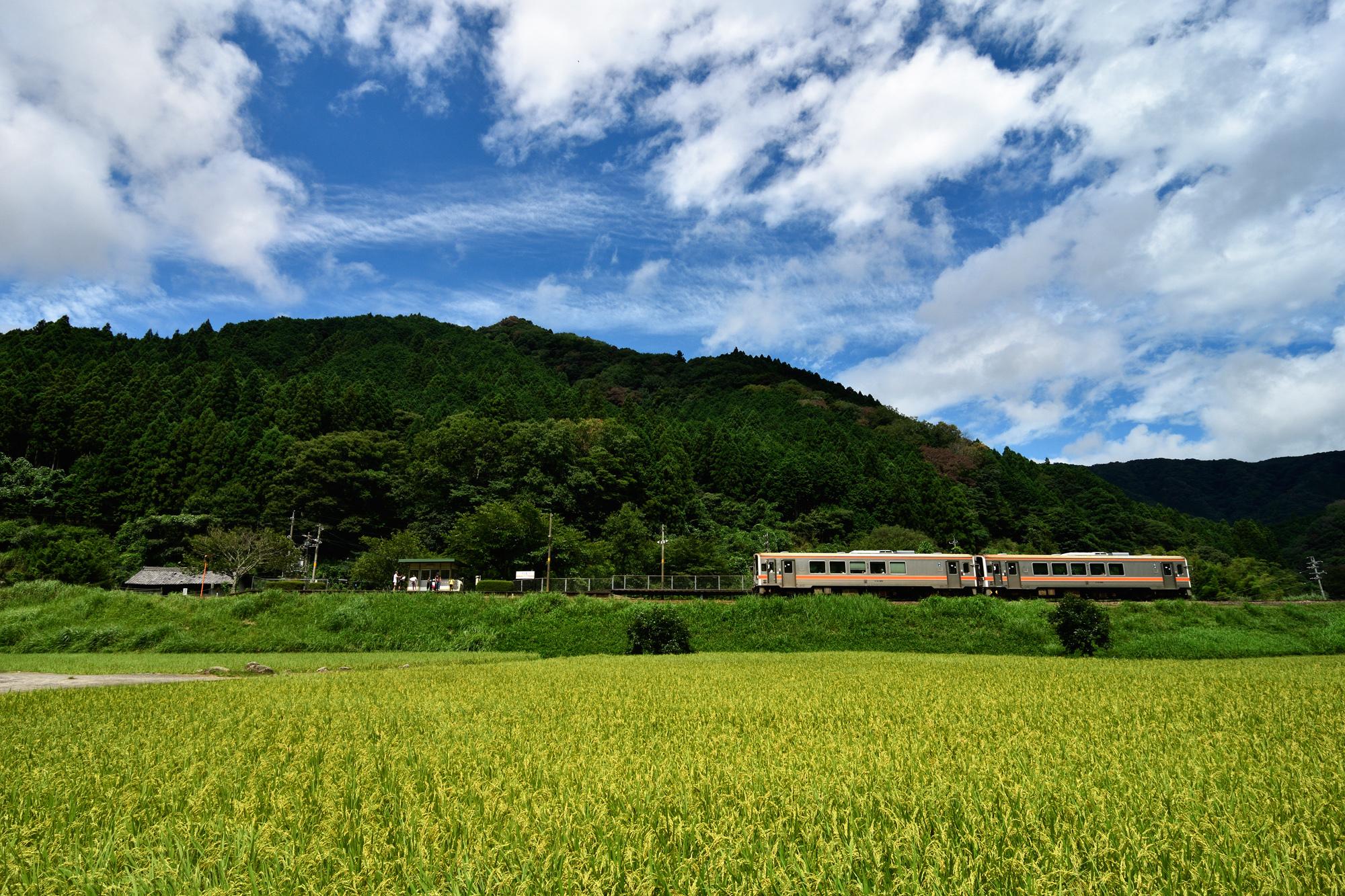 夏休みの駅