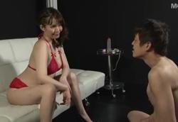 【M男】熟痴女王様 センズリ鑑賞男潮吹き!潮見百合子