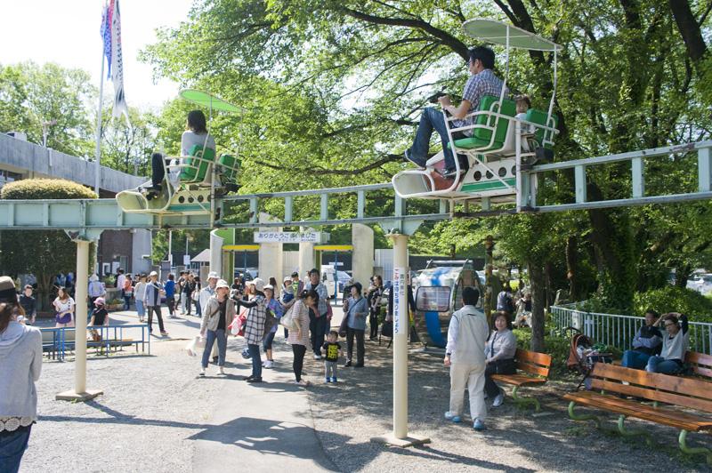 桐生が岡遊園地のサイクルレール