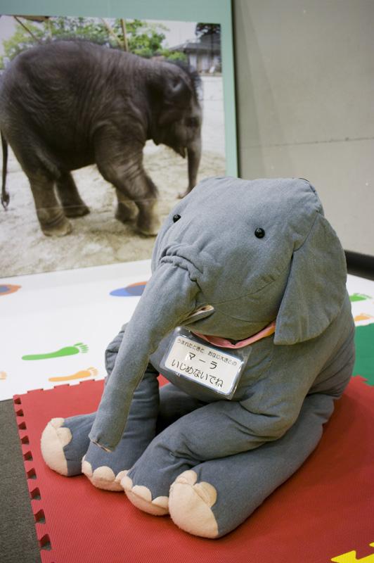 結婚式で親に生まれた時の重さのテディーベアを渡すみたいなゾウ