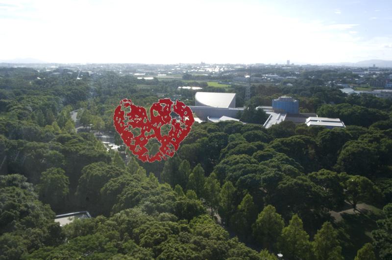 のんほいパークの展望台からの眺め