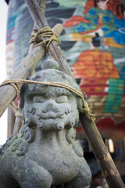 愛知県西尾市一色町三河一色大提灯まつりの狛犬
