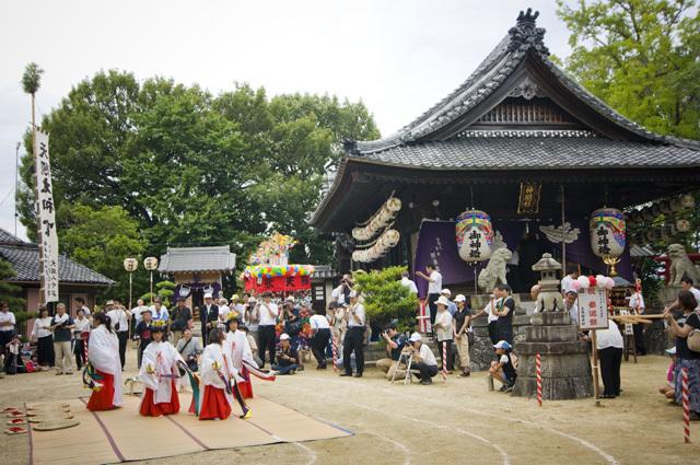 2015年の愛知県岡崎市の御田扇祭