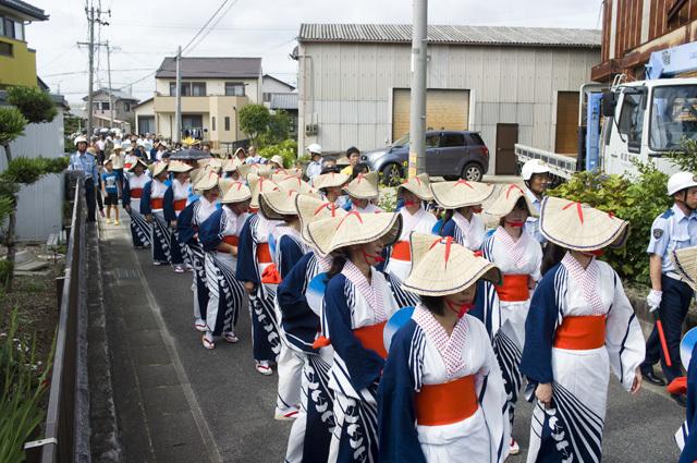 2015年の愛知県岡崎市の御田扇祭行列
