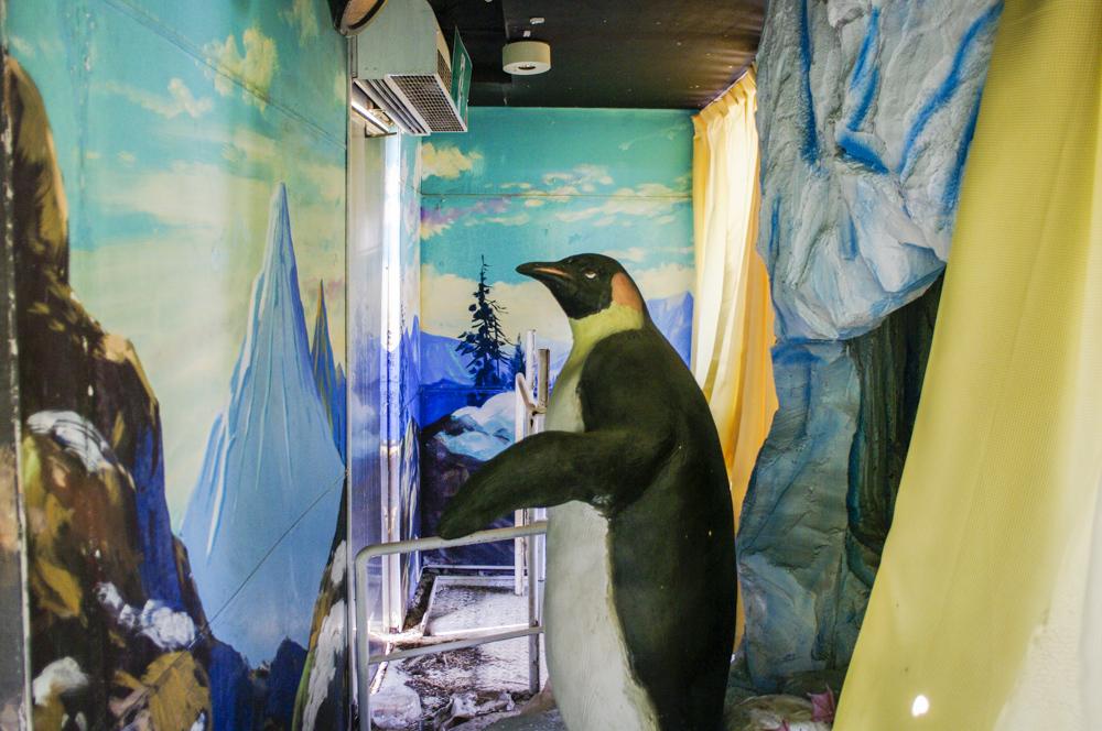 恵那峡ワンダーランドのペンギンアトラクション
