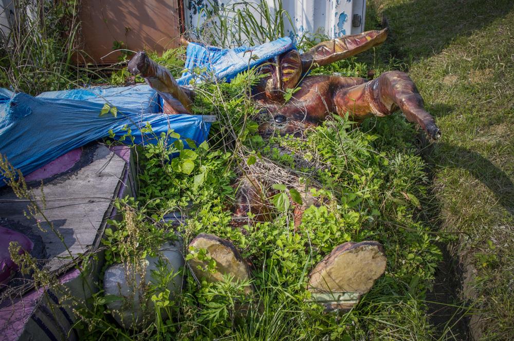恵那峡ワンダーランドの眠れるボスっぽい廃墟キャラ