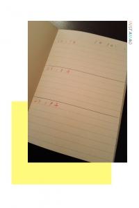 1日1ページノート