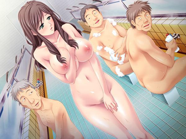 銭湯の男湯にグラマーな全裸の女性が入ってきたその瞬間!男全員即勃起wwwwwwww