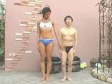 身長差30cm長身女性と低身長男性との凸凹セックス