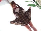 可愛らしい女子校生のパンチラ