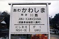 阿波川島駅名