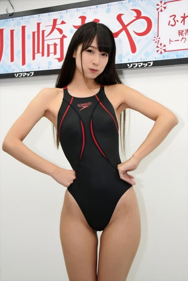川崎あや競泳水着18