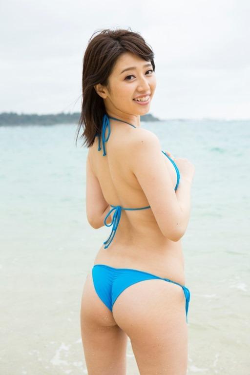 【今野ゆい(27) のエッチなお尻の割れ目】プリケツ水着エロ画像60枚!