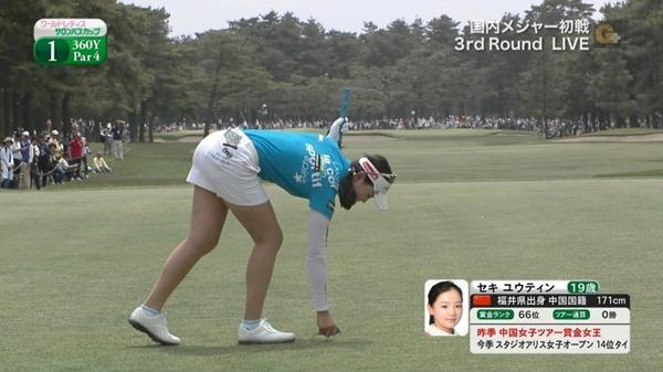 ゴルフ中継パンチラ13