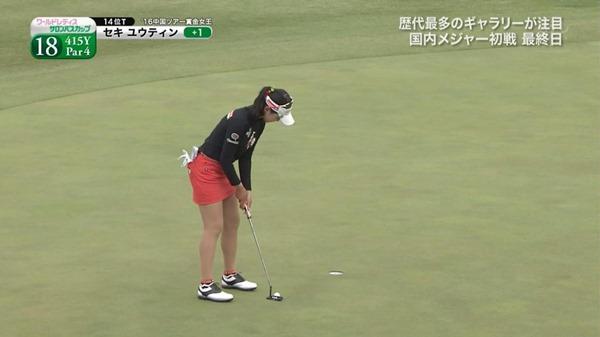 ゴルフ中継パンチラ16