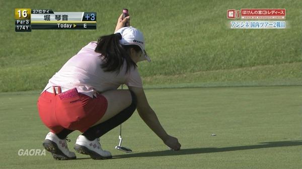 ゴルフ中継パンチラ25
