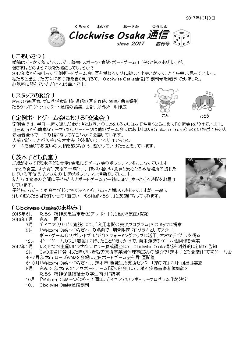 通信創刊号オモテ