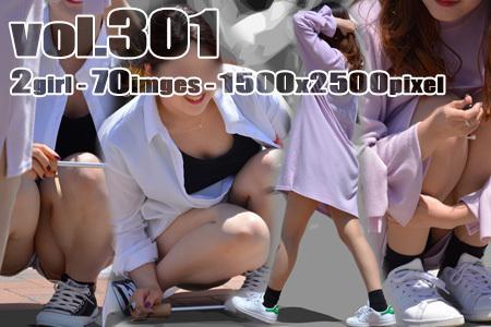 ■vol301-大胆ギャルの美脚とチラ露出