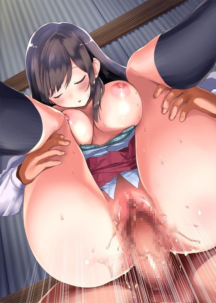 【二次元】黒髪美少女の睡姦セックスエロ画像【昏○オナホ☆中出し子作りハメハメライフ】