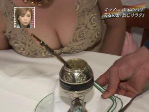 【お宝】TVに映ってしまった芸能人の胸チラが放送事故レベルwwww