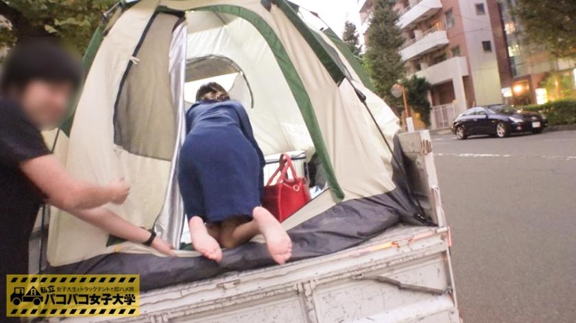 縛られるのが好きな女子大生を仮設テントで緊縛電マでイカせたらヨダレ垂らしてたwwwwwww