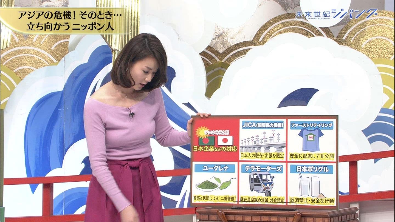 秋元玲奈アナの発情おっぱい3
