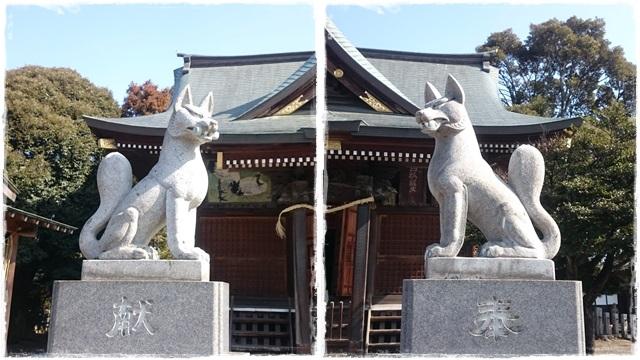 一瓶塚稲荷神社・狛狐