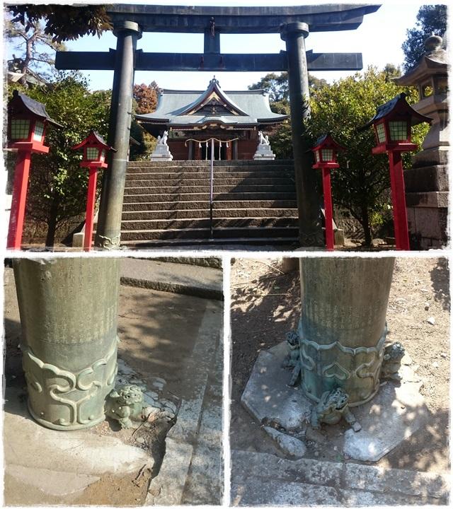 一瓶塚稲荷神社・青銅鳥居