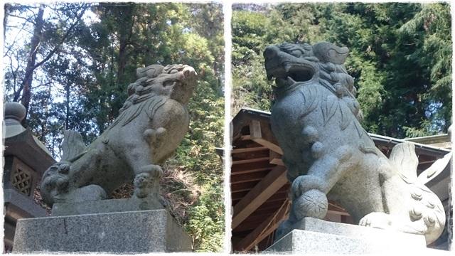 西金砂神社・狛犬1