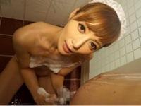 冬月かえで 痴女メイドがお風呂でイチャイチャ洗体プレイ&尻コキ!