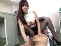 美熟女に手コキされ射精!本当の快感はそこから続けてもっと手コキ!澤村レイコ