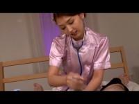 痴女看護師がイッても止めない亀頭責め&高速ヌルヌル泡手コキで悶絶させる!