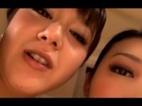 【夏希アンジュ 水嶋あずみ】痴女なお姉さま2人に主観アングルで手コキフェラされる天国!