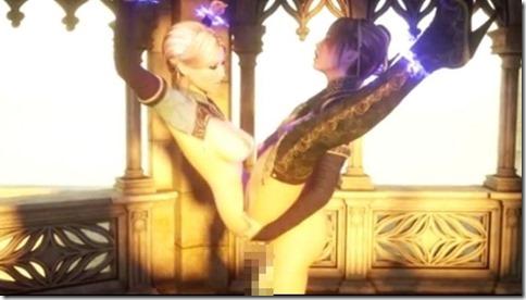 言葉はわからなくともエロさは伝わる、中世の3Dグラフィックふたなりエロ動画02