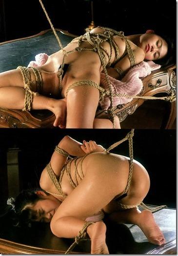 【昭和ロマンSM股縄画像】食い込む股縄の強さが愛の強さ。縄で結ばれた夫婦生活3